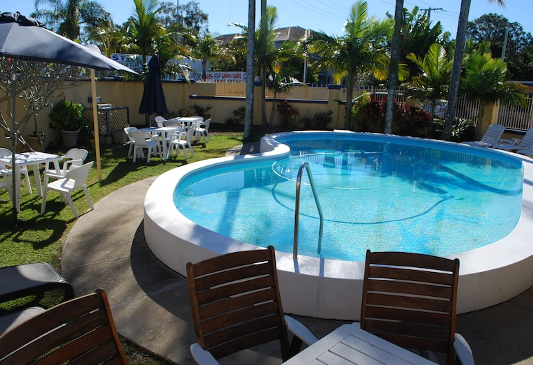Sunburst Motel, Biggera Waters, Piscine en plein air