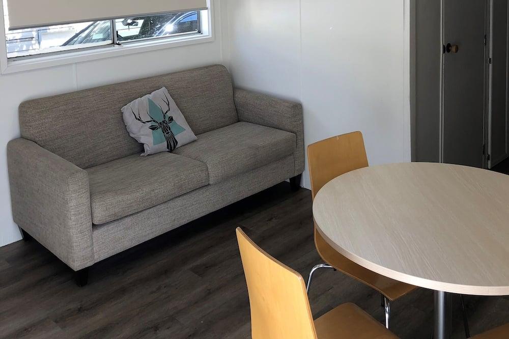 Deluxe Kosi Cabin - Living Area