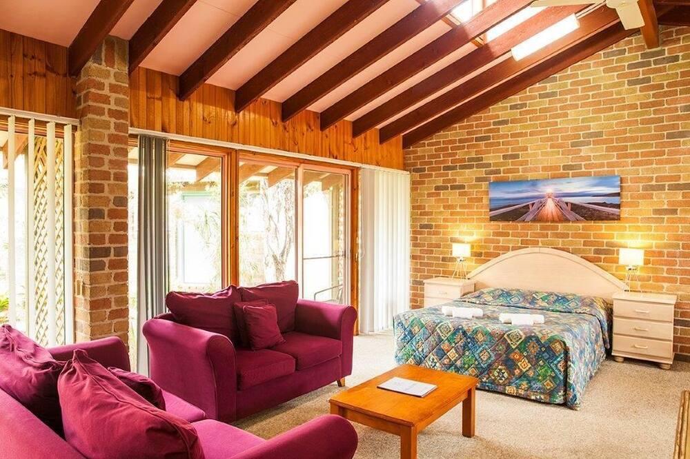 Familiekamer, niet-roken, kitchenette (Queen family room 6 ppl) - Woonruimte