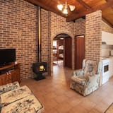 Rammed Earth Chalet - Living Area