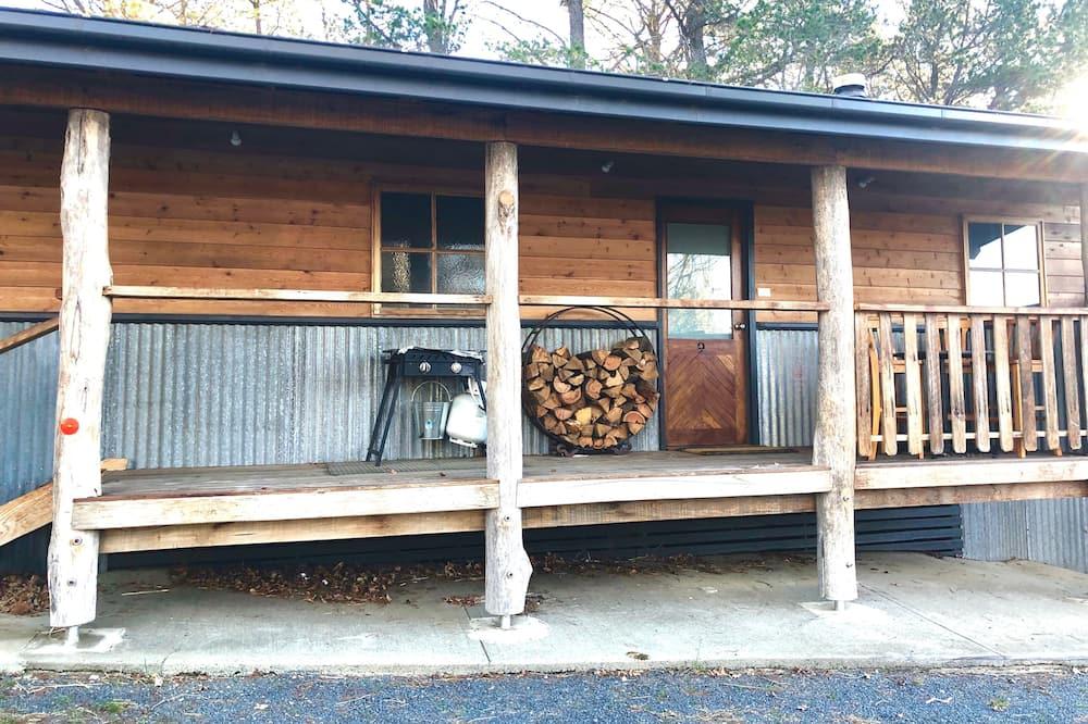 Deluxe-Ferienhütte, 2Schlafzimmer, Kamin - Balkon