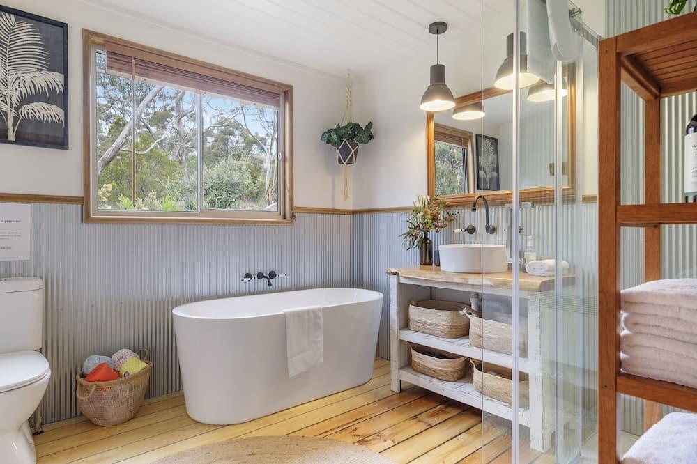 Family Σπίτι, 4 Υπνοδωμάτια, Τζάκι, Θέα στη Θάλασσα - Ιδιωτική μπανιέρα υδρομασάζ