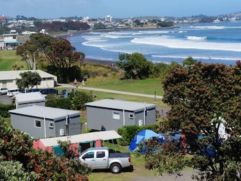 Foto van Fitzroy Beach Holiday Park in New Plymouth