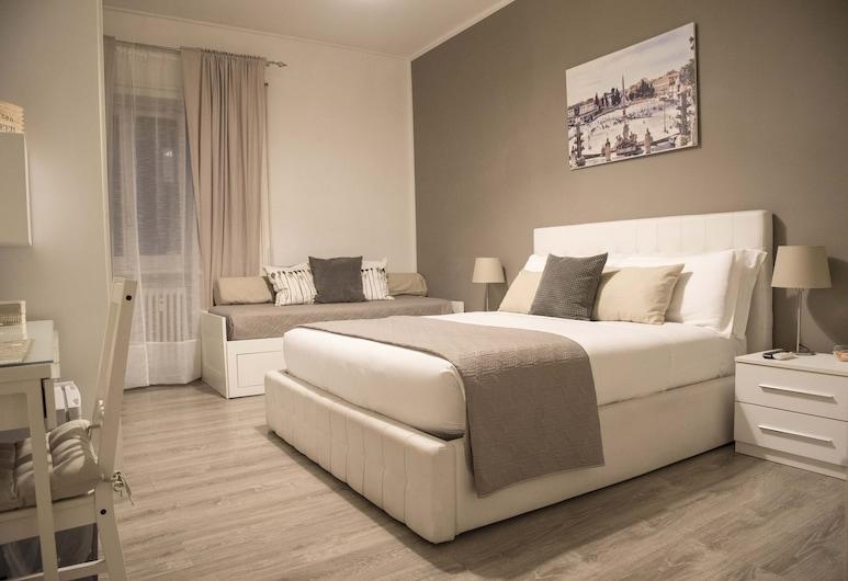Le Piazze di Roma Bed and Breakfast, Rome, Comfort driepersoonskamer, privébadkamer, Kamer