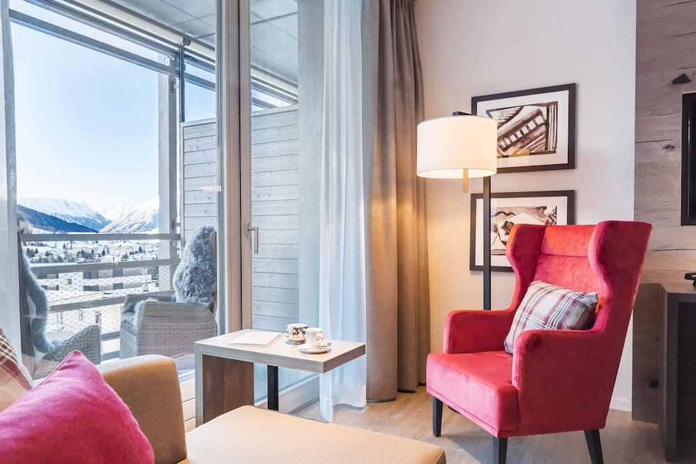 Dvivietis kambarys su patogumais, 2 viengulės lovos - Vaizdas į kalnus