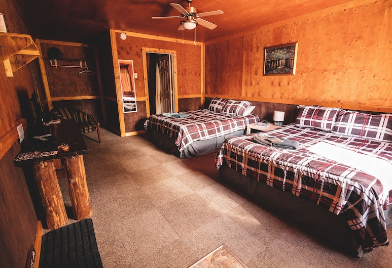 Mountain View Cabins, Golden, Cabane, Chambre