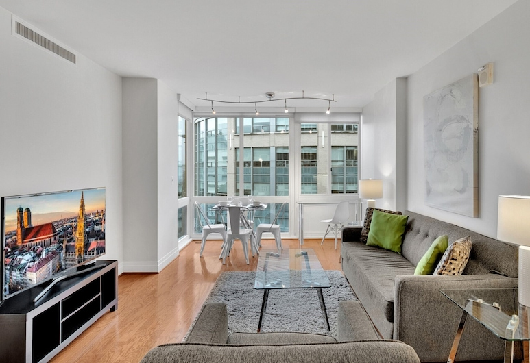 Global Luxury Suites at Foggy Bottom, Washington, Luxury Apartment, 2 Bedrooms, Living Area