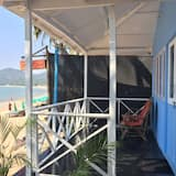 Bungalo, 1 divguļamā karaļa gulta, skats uz jūru, pludmales puse - Balkons