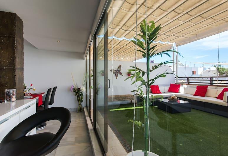 The Zentral Suites & Apartments, Seville, Deluxe katusekorter, 2 magamistoaga, terrass (Josefa Reina Puerto, nº 3), Terrass