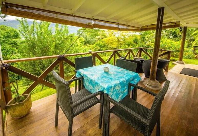 レモングラス ロッジ, マヘ島, アパートメント 1 ベッドルーム (Zanbroza ), バルコニー