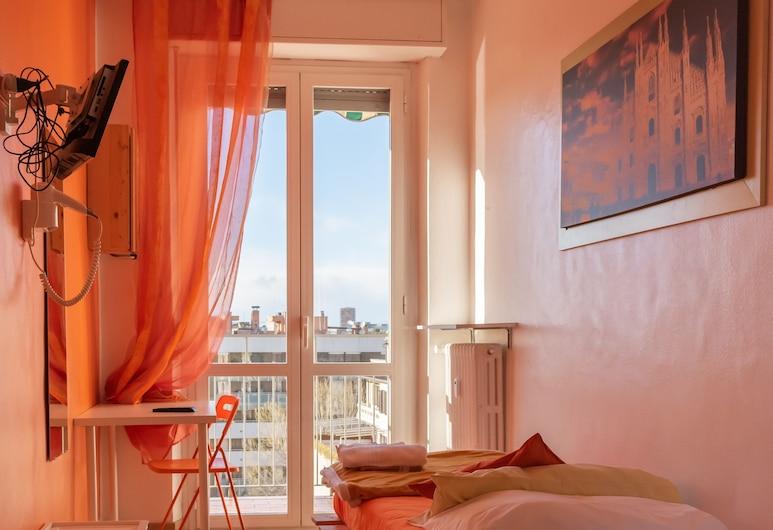 B&B by Max, Milaan, City eenpersoonskamer, 1 slaapkamer, gemeenschappelijke badkamer, Uitzicht op de stad, Kamer