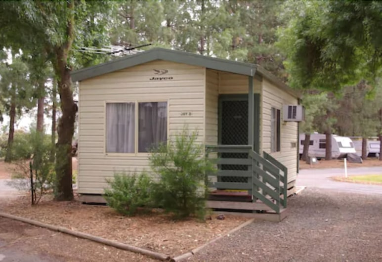 Barossa Tourist Park, Nuriootpa, Cabana de Madeira Standard, 1 Quarto (Jay - No Linen Provided for Bunk Beds), Quarto