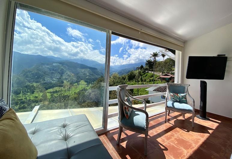 Hotel El Mirador del Cocora, Salento, Superior Double Room, Mountain View (Mirador de los Andes), Living Area