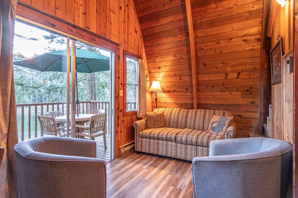 Chalet, Varias camas, vista al lago - Sala de estar