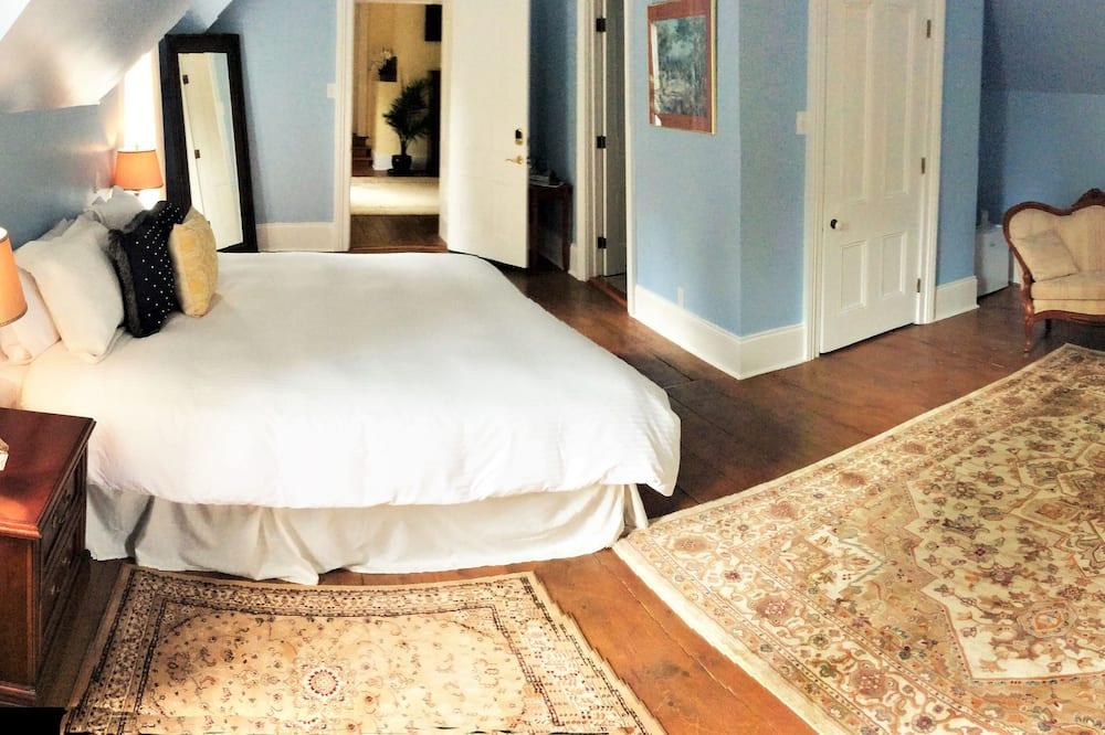Deluxe-suite - 1 kingsize-seng - udsigt til have - Executive-niveau - Stue