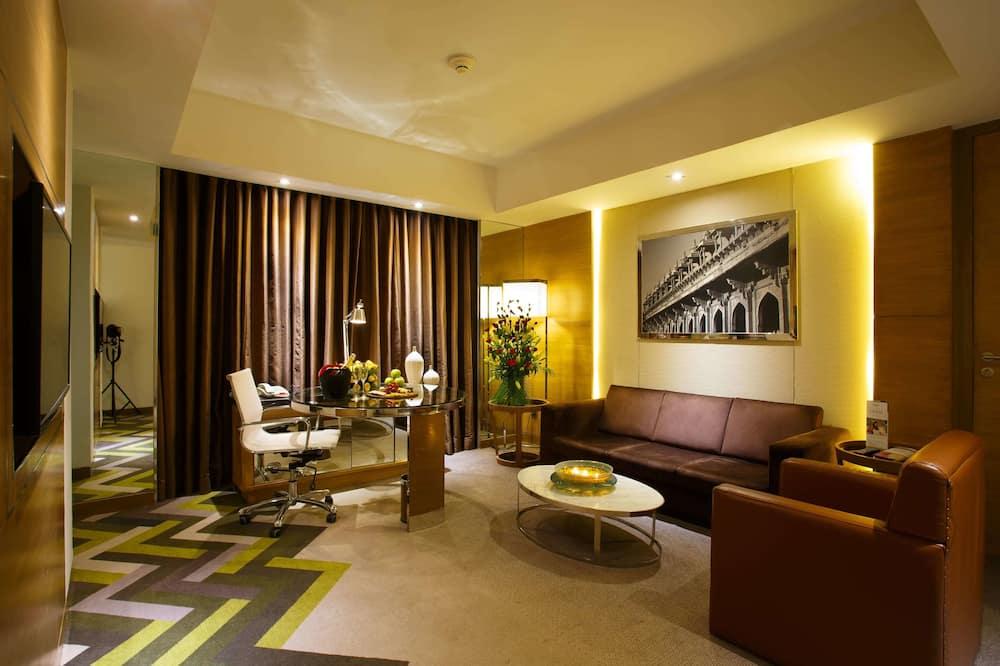 Suite ejecutiva, 1 habitación, para no fumadores - Sala de estar