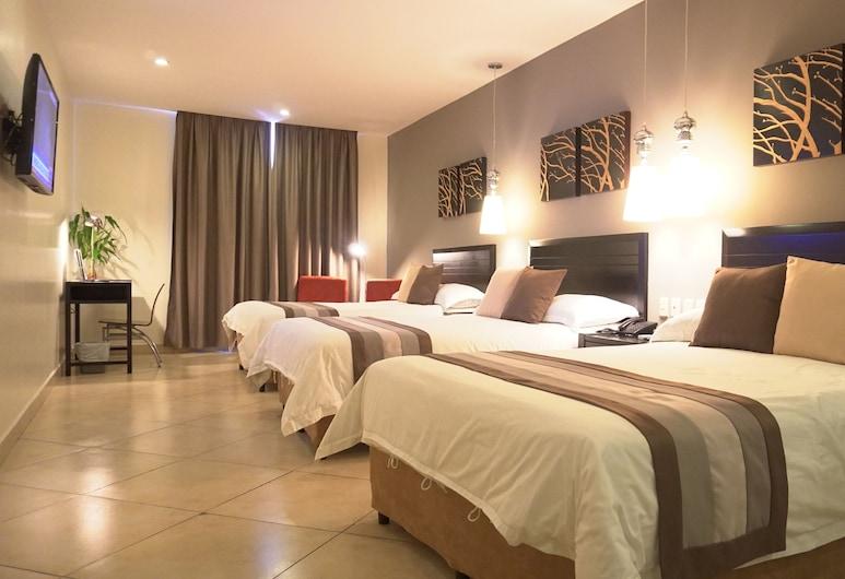 Hotel Las Cascadas, San Pedro Sula, Tripla Standard (3 Double Beds), Camera