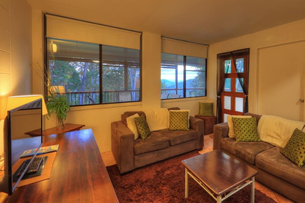 Апартаменты, 1 спальня, патио, вид на горы - Зона гостиной