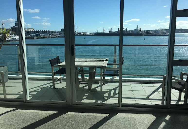 Auckland Waterfront Serviced Apartments on Prince's Wharf, Auckland, Apartment, 1 Queen-Bett (Harbourside), Balkon