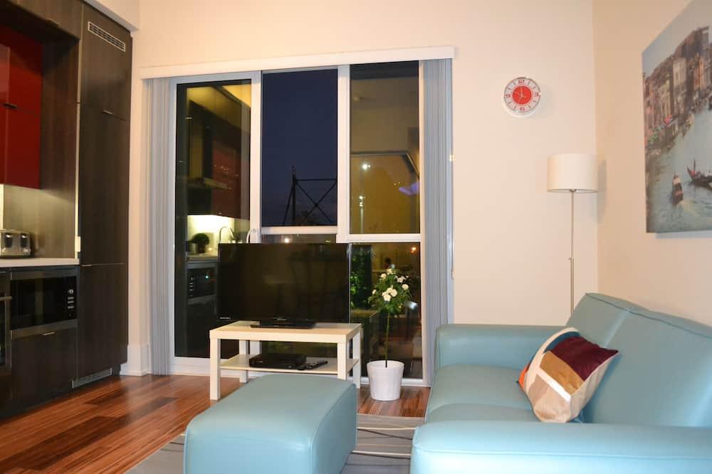 Darījumklases numurs, 1 divguļamā karalienes gulta (CN Tower View) - Dzīvojamā zona