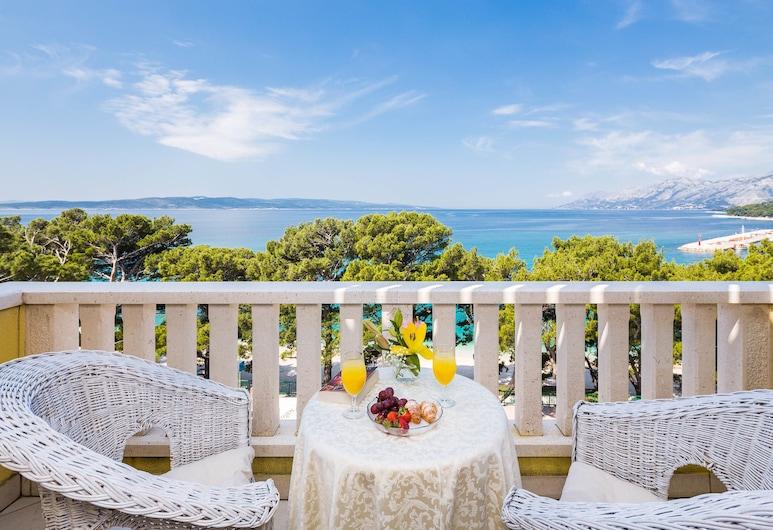 Hotel Bacchus, Baška Voda, Superior Twin soba, 1 spavaća soba, pogled na plažu, Balkon
