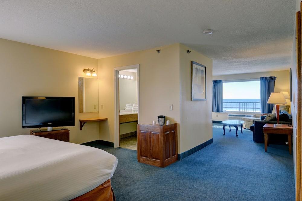 Liukso klasės numeris, 1 miegamasis, balkonas, vaizdas į vandenyną - Svetainės zona