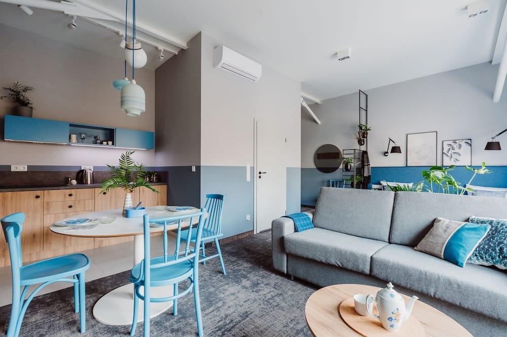 Διαμέρισμα (Sky Blue - 4 people) - Περιοχή καθιστικού