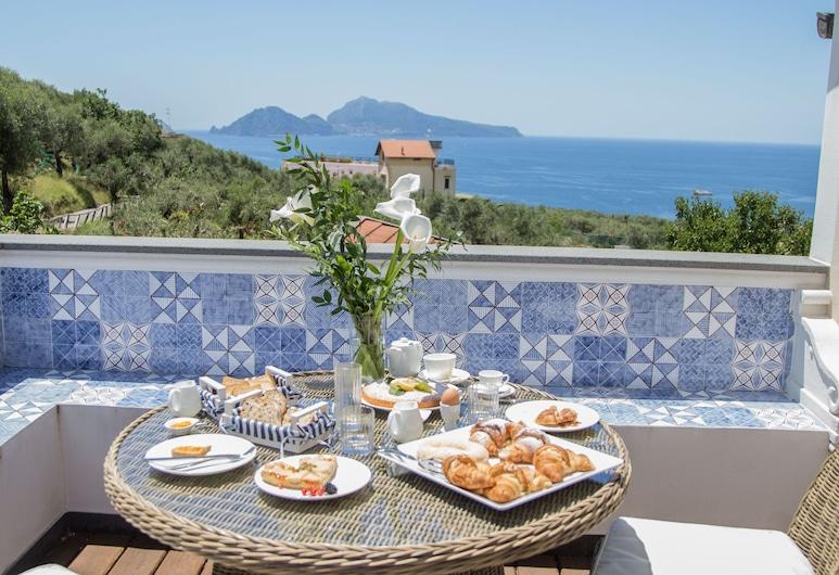 MelRose Relais, Massa Lubrense, Apartmán typu Junior, terasa, výhľad na more, Terasa