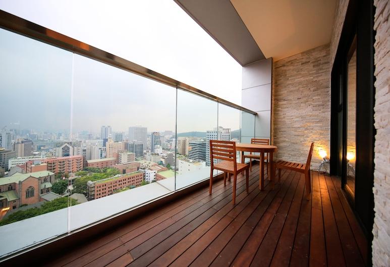 首爾索拉里亞西鐵酒店 明洞, 首爾, 特級三人房, 露台