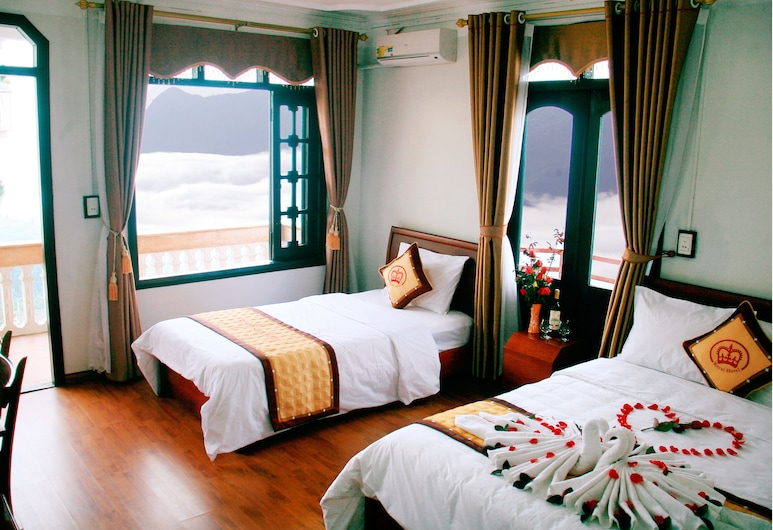 Royal Sapa Hotel, Sa Pa, Deluxe-herbergi fyrir tvo - útsýni yfir dal, Herbergi