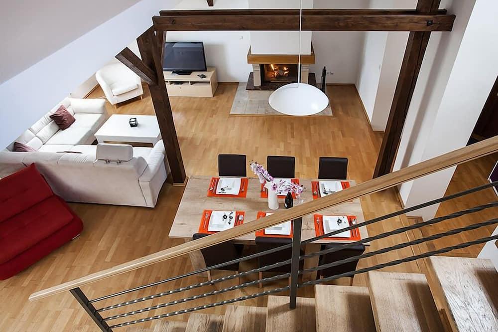 頂級公寓, 2 間臥室, 河景 - 客廳