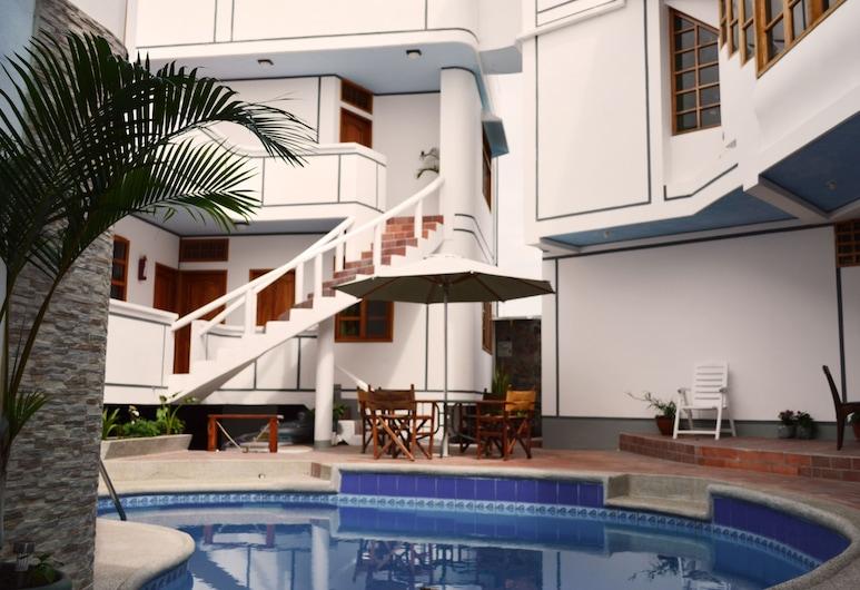 Hotel Santa Fe, Puerto Ayora, น้ำตกในสระว่ายน้ำ