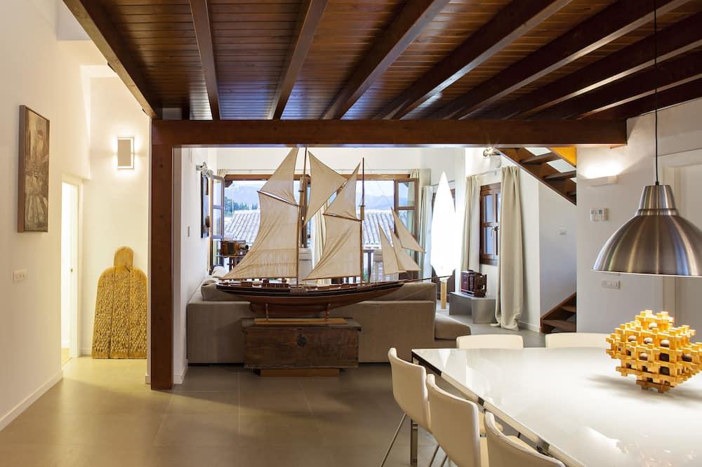 펜트하우스, 침실 3개, 전용 수영장 - 거실 공간