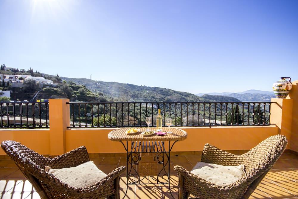 Appartement, 3 chambres, terrasse, vue montagne - Balcon