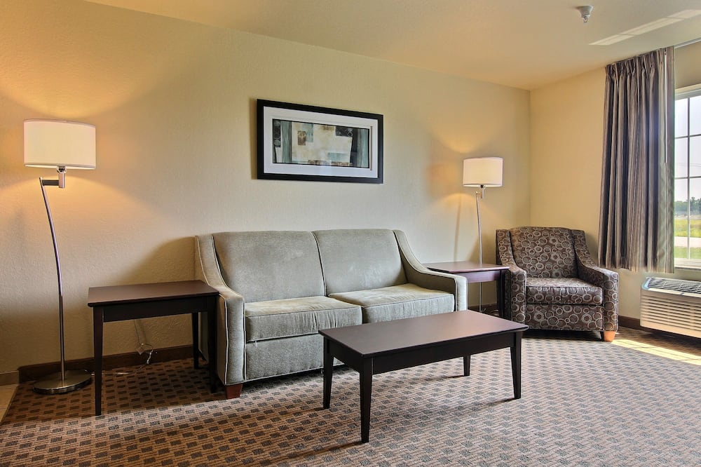 Suite, 1 King Bed with Sofa Sleep, Accessible Roll in Shower, Non Smoking - Living Room