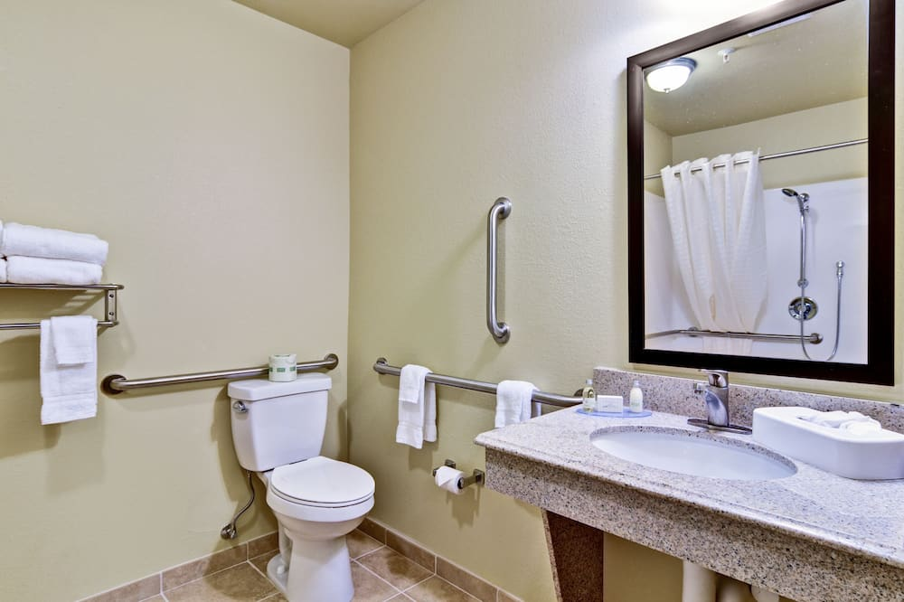 Suite, 1 King Bed with Sofa Sleep, Accessible Roll in Shower, Non Smoking - Bathroom