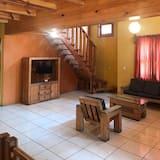 Cabaña, 3 habitaciones, bañera de hidromasaje - Sala de estar
