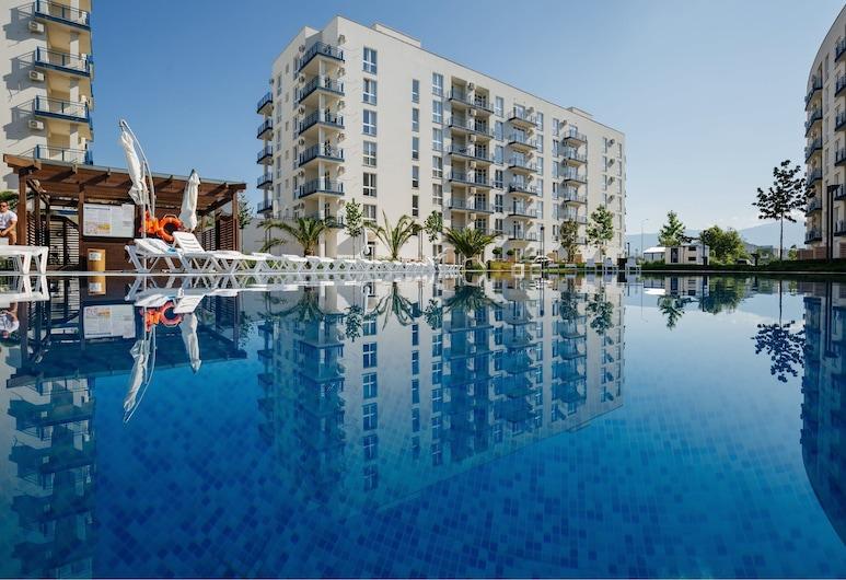 伊莫爾丁斯基公寓酒店 - 海岸線綜合住宅, Adlersky, 室外泳池