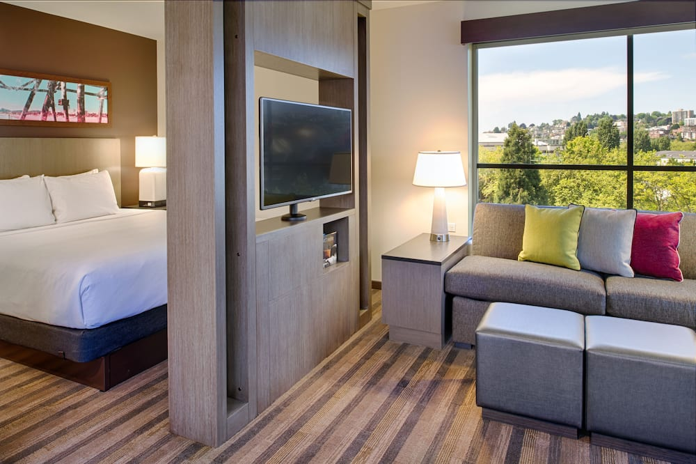 Suite, 1 King Bed with Sofa bed, Accessible (Shower) - Guest Room