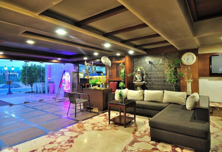 Hotel Krishna Residency @ Dwarka, Nuova Delhi, Salottino della hall