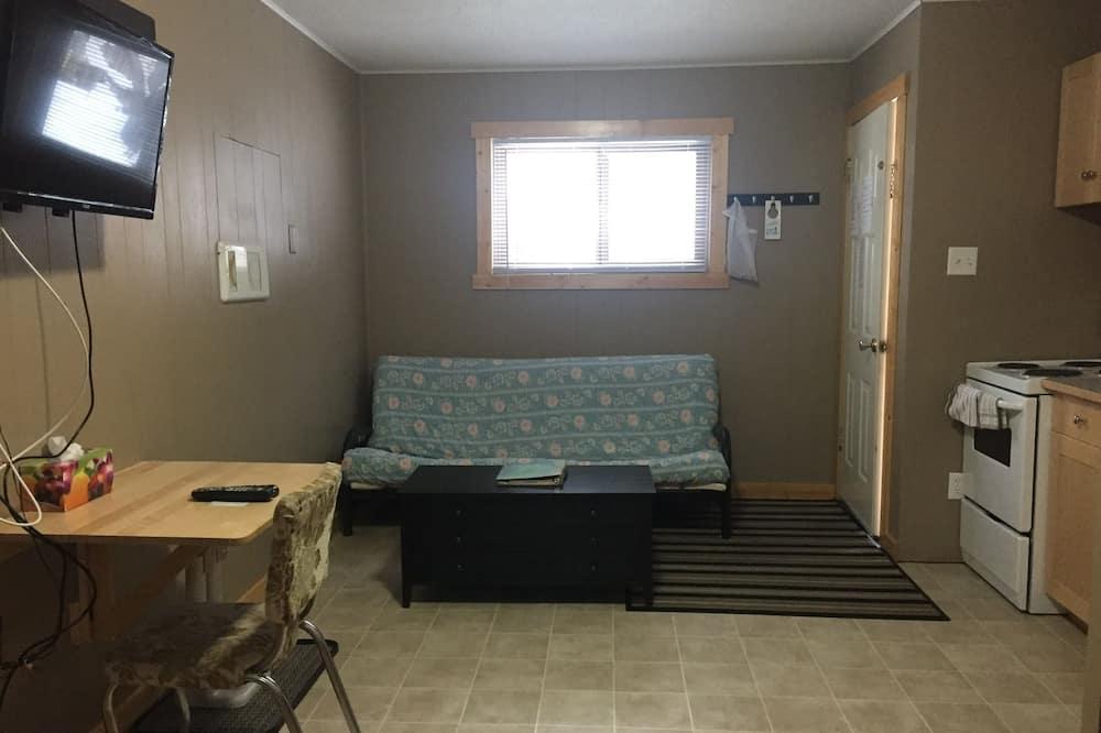 غرفة ديلوكس - سرير كبير مع أريكة سرير - بمطبخ - منطقة المعيشة