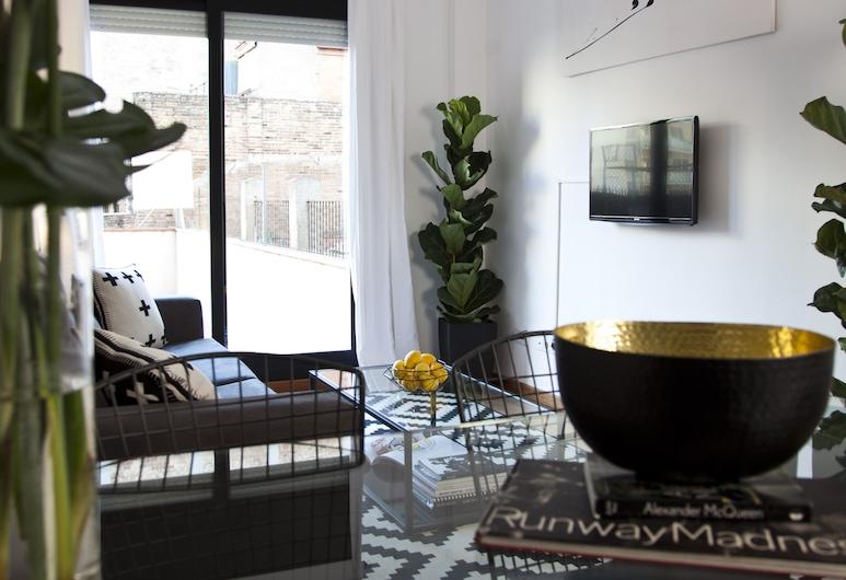 L'Aragó by The Streets, Barcelona, Departamento, 2 habitaciones, terraza (6 Pax), Sala de estar
