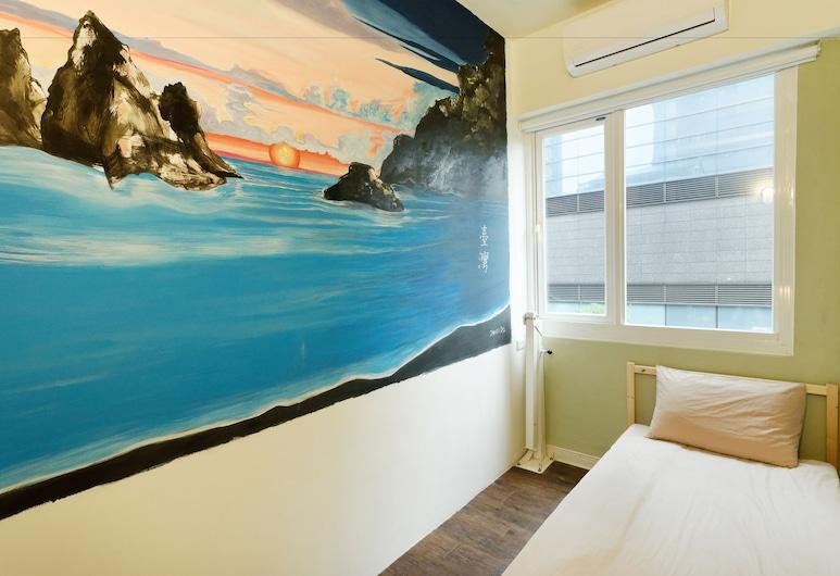 Flip Flop Hostel - Main Station, Taipei, Comfort eenpersoonskamer, gemeenschappelijke badkamer, Kamer
