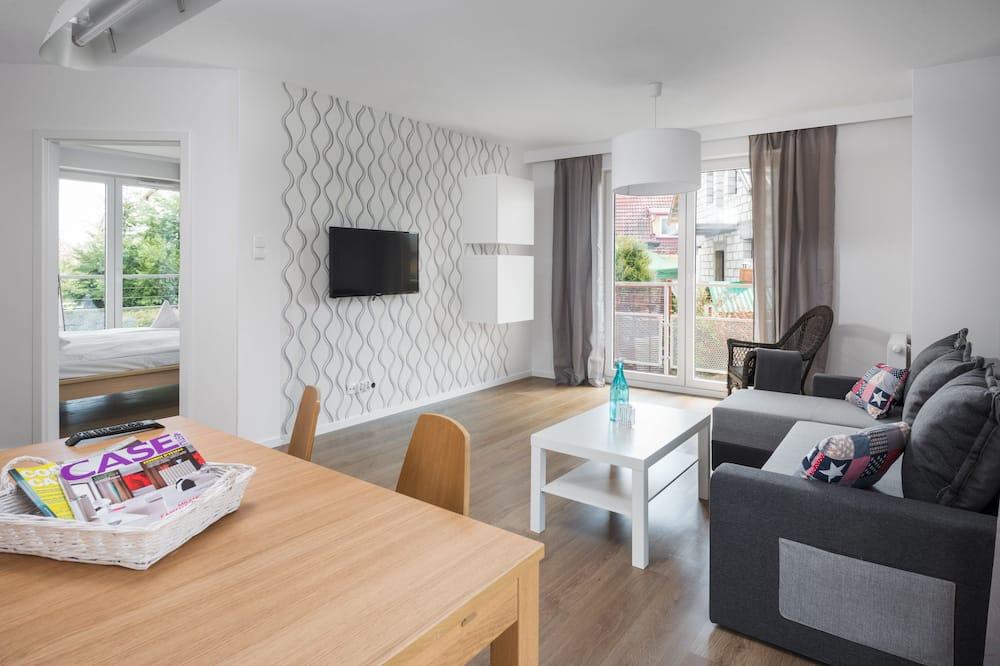 อพาร์ทเมนท์, 3 ห้องนอน, ระเบียง - ห้องนั่งเล่น