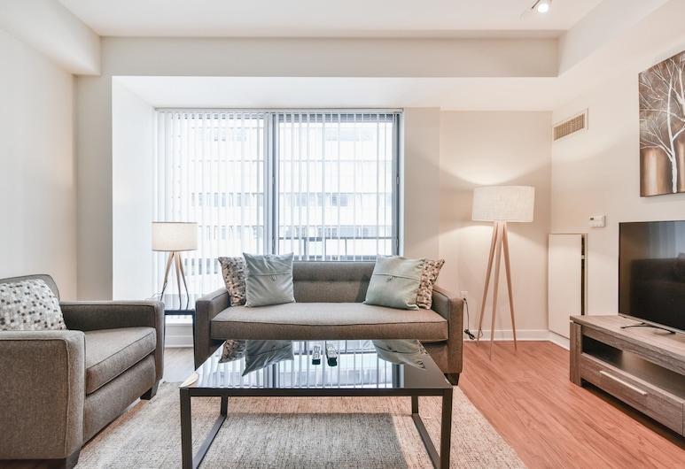 Global Luxury Suites at West End, Boston, Luxury Apartment, 1 Bedroom, Living Room