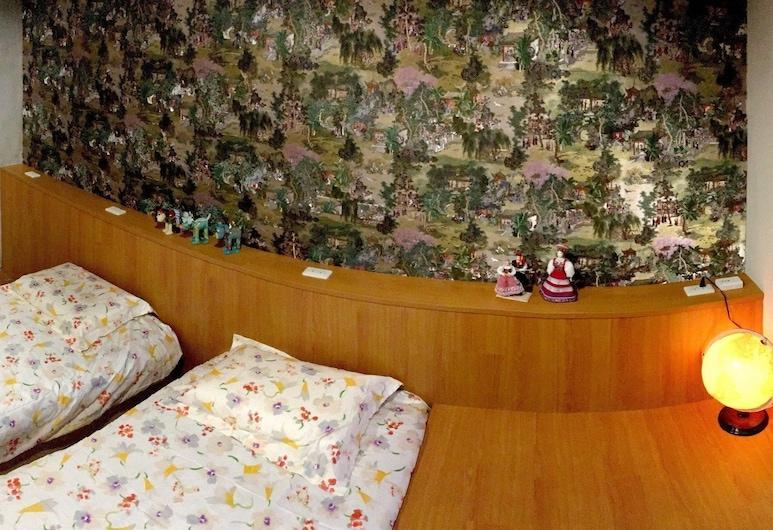 Formosa101 - Hostel, Taipei, Pokój z 2 pojedynczymi łóżkami typu Deluxe, 2 łóżka pojedyncze, z łazienką, wysokie piętro, Pokój