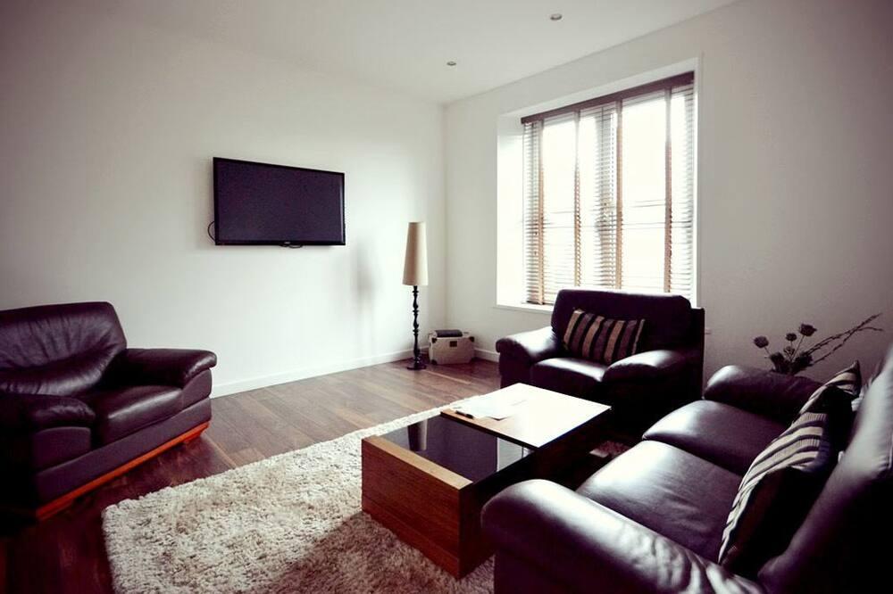 דירה, 2 חדרי שינה, נוף לעיר (Duplex) - אזור מגורים