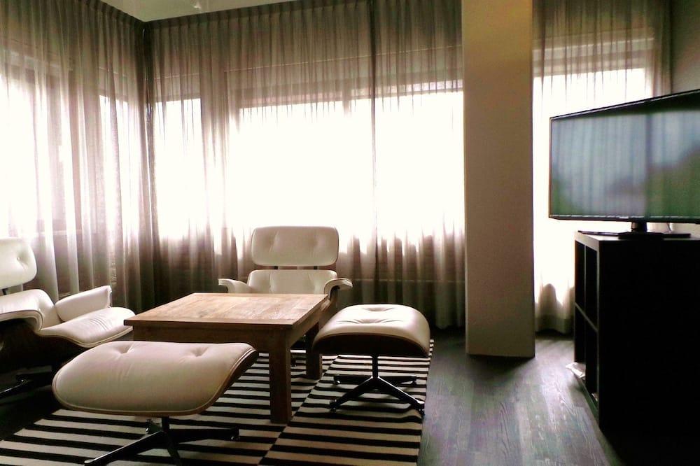 Verslo klasės apartamentai, 1 miegamasis, virtuvė - Svetainė