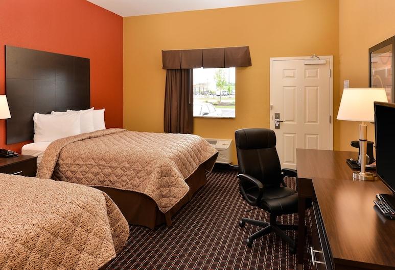 Americas Best Value Inn Tupelo, Tupelo, Szoba, 2 queen (nagyméretű) franciaágy, mozgássérültek számára is hozzáférhető, nemdohányzó, Vendégszoba
