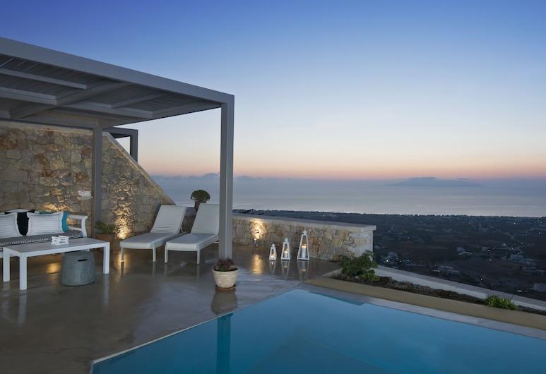 Eolia Luxury Villas, Santorini, Superior villa, Zwembad op dak